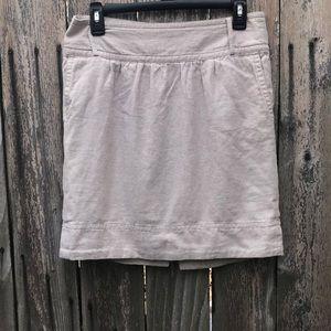 Banana Republic Khaki Linen Skirt
